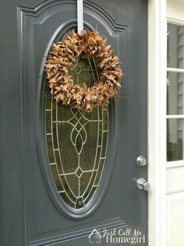 s 17 tricks to make a gorgeous wreath in half the time, crafts, wreaths, Slide old leaves onto a wire