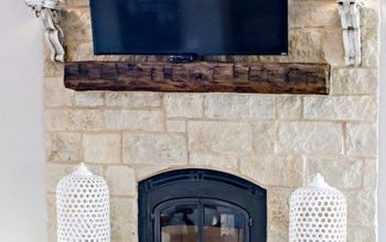 Build a Mantel Out of an Old Barn Beam