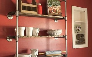industrial wall shelf tutorial, dining room ideas, home decor, home improvement, how to, kitchen design, shelving ideas, wall decor, woodworking projects