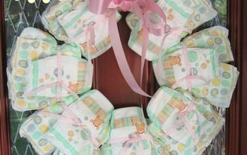 cute diaper wreath is perfect for baby shower gift, bathroom ideas, bedroom ideas, crafts, wreaths