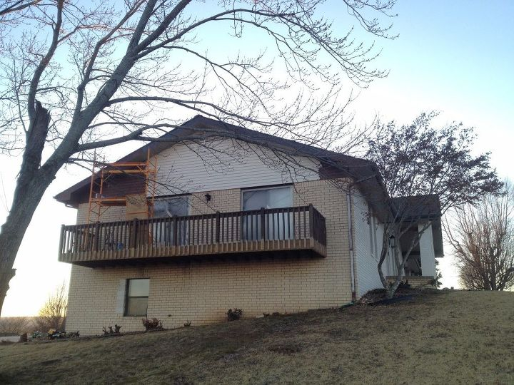 how i painted my ranch style brick house , concrete masonry, paint colors, painting