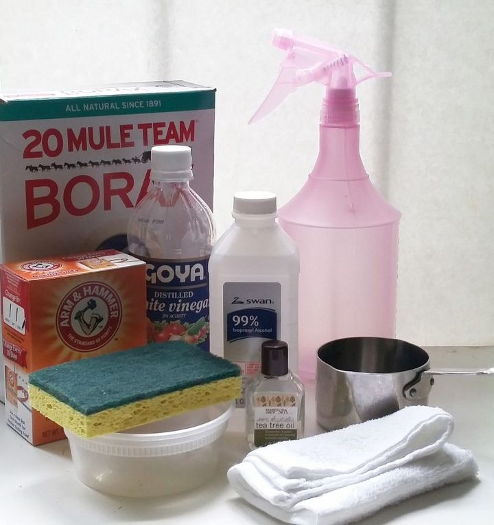 3 ingredient green diy soap scum remover for your glass shower doors, Really 3 Easy Ingredients is All You Need