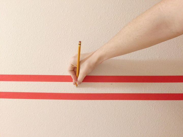 diy wallpaper hack using washi tape rental friendly , wall decor
