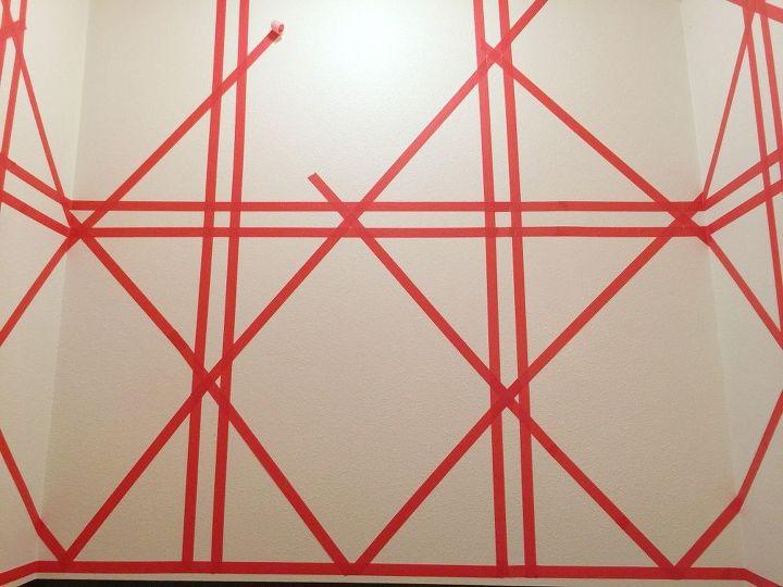 Diy Wallpaper Hack Using Washi Tape Rental Friendly Wall Decor