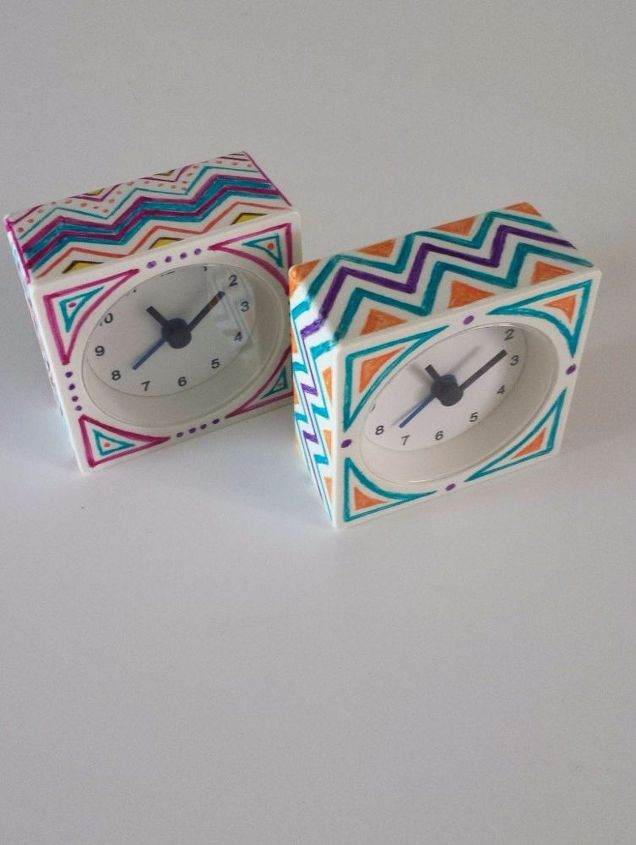 ikea hack sharpied alarm clock diy, crafts, home decor, how to