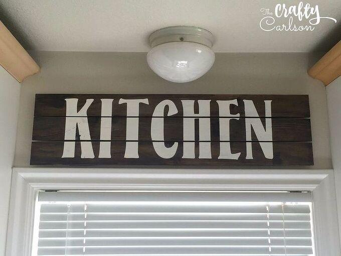 farmhouse style kitchen sign, crafts, kitchen design