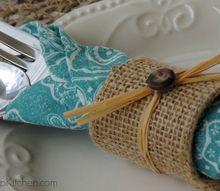 diy burlap napkin rings, crafts