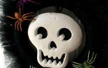 Black Glitter Tulle Halloween Wreath