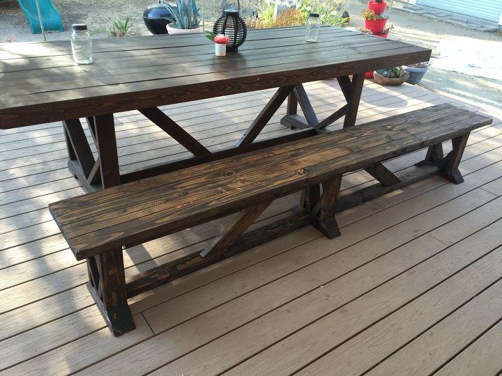 Diy Extra Long Outdoor Wood Bench Hometalk