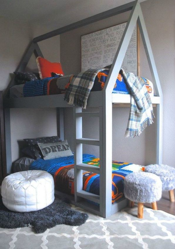 s give your kids the coolest bedrooms with these 13 jaw dropping ideas, bedroom ideas, This house bunk bed