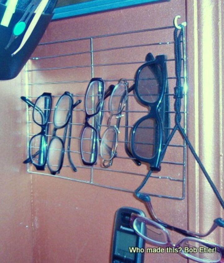 s 10 genius organizing hacks using cooling racks, organizing, Store your glasses on it