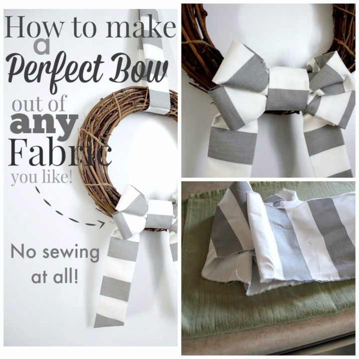 how to make a perfect bow for any wreath , crafts, home decor, homesteading, how to, wreaths