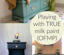 we re going live to show you tips tricks using milk paint, painting