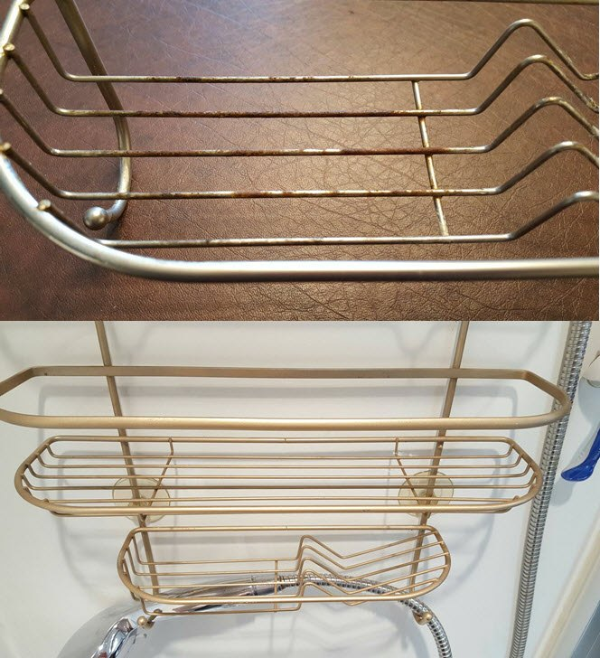 How To Easily Restore Your Rusty Shower Caddy To Brand New | Hometalk