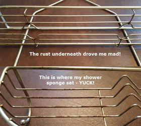 How To Easily Restore Your Rusty Shower Caddy To Brand New Hometalk