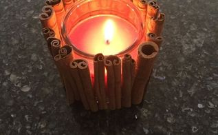 easy cinnamon stick candle great for holidays and gifts, crafts, home decor