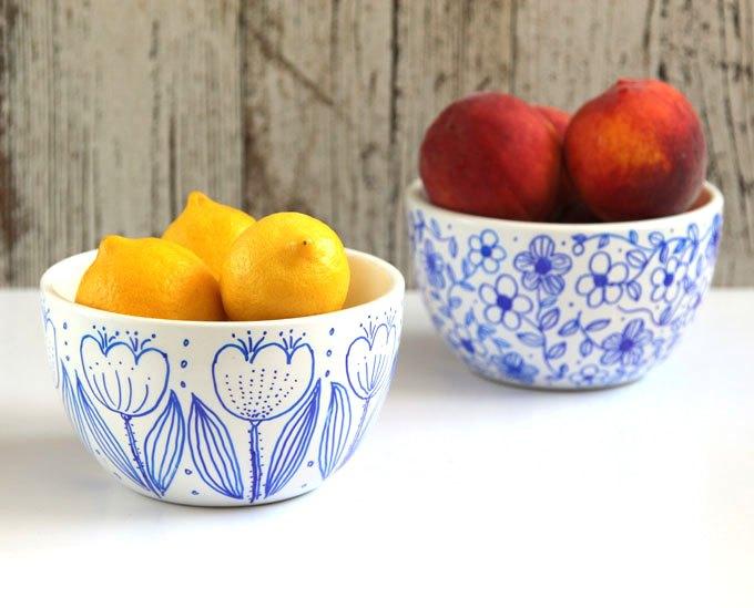 no bake sharpie art bowls, crafts