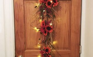 fall sunflower door hanger, doors, flowers, home decor, lighting