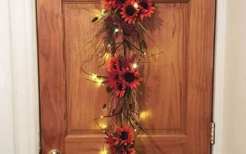 Craft an Autumn Sunflower Door Hanger