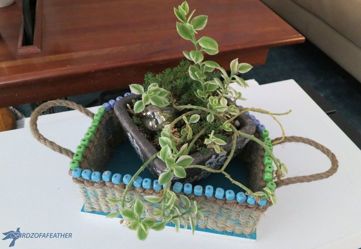 hometalk hq challenge basket, crafts, home decor, home office, how to, succulents