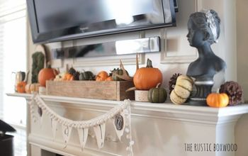 Thrifty and DIY Decorating Ideas for Your Fall Mantel