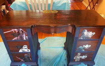 Old Auction Desk Turned Into Boys Ultimate Star Wars Desk