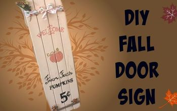 diy fall wood door sign, crafts, doors