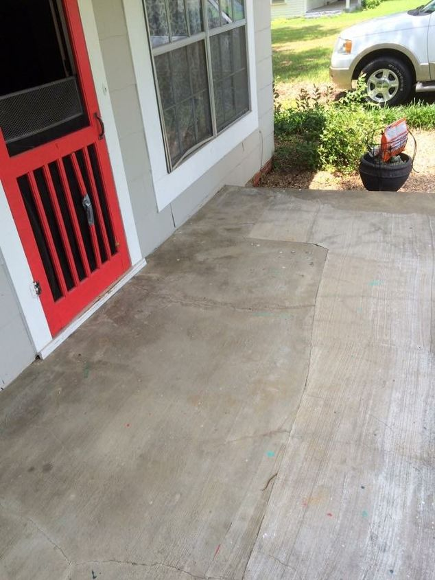 boring concrete porch to fabulous , concrete masonry