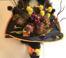 witch s hat door hanger crafts doors halloween decorations