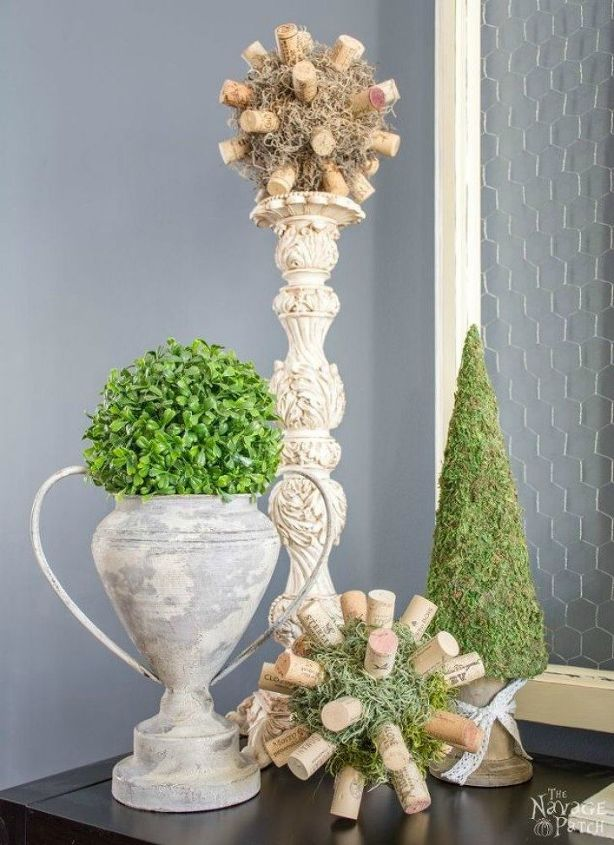 s 14 topiary techniques that are insanely popular this fall, gardening, Combining moss with wine corks