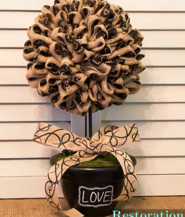 s 14 topiary techniques that are insanely popular this fall, gardening, Or tying this burlap one with a bow