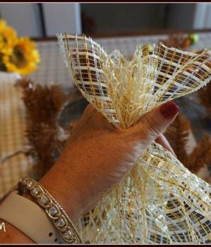 fall deco mesh wreath tutorial, crafts, how to, seasonal holiday decor, wreaths
