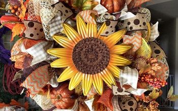 fall deco mesh wreath tutorial, crafts, how to, seasonal holiday decor, wreaths