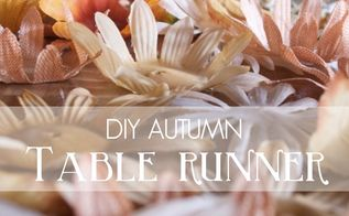 diy fall table runner, crafts, flowers, how to, seasonal holiday decor