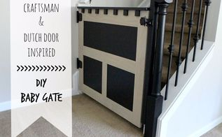 craftsman dutch door inspired diy baby pet gate, doors, woodworking projects