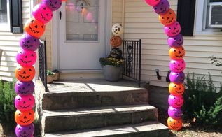 jack o lantern archway, outdoor living