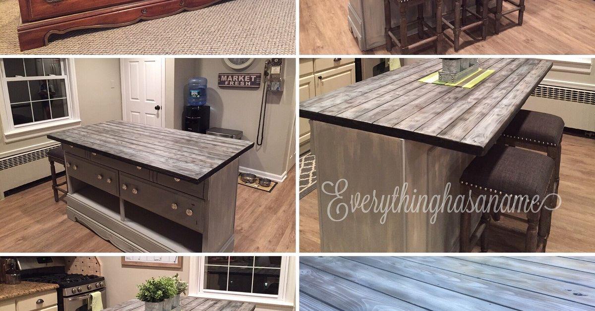 Transformed Dresser Into Kitchen Island