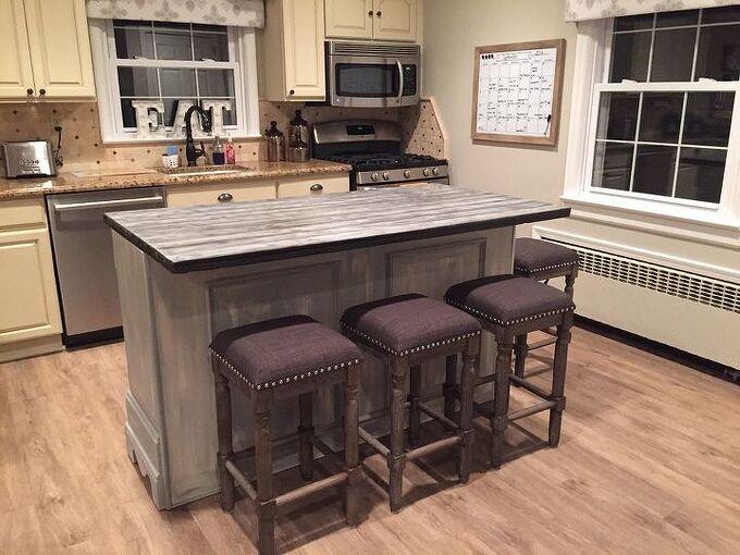 transformed dresser into kitchen island, kitchen design, painted furniture