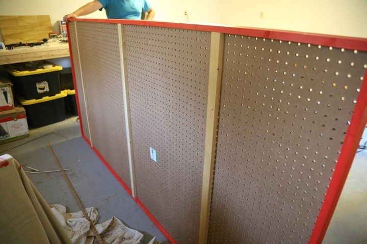 diy giant pegboard, closet, home improvement, how to, organizing, painted furniture, tools