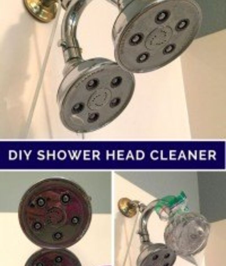 how to clean your shower head diy with 1 step and 1 ingredient , bathroom ideas, cleaning tips, how to, plumbing