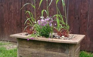 create a rustic log and pallet wood planter, gardening, pallet