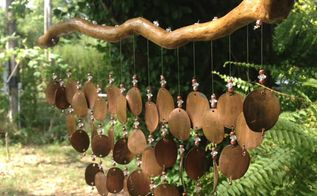 how to make pressed penny wind chimes, how to, Easy to Make Copper Penny Wind Chimes