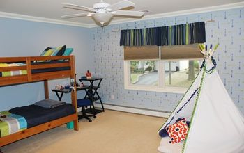 Before and After: An Arrow Stenciled Boys Bedroom