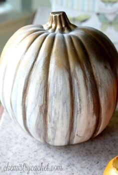 simple affordable diy shabby chic pumpkin, crafts, seasonal holiday decor, shabby chic