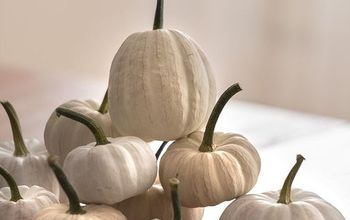 shades of white painted pumpkins, crafts