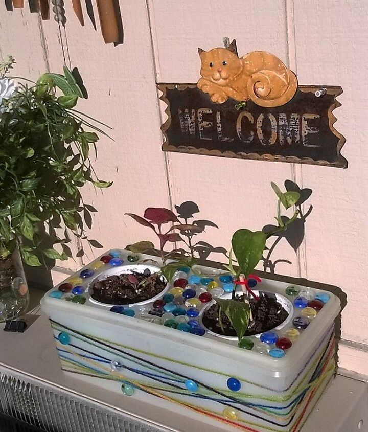 upcycling a pet feeder to a planter , crafts, gardening, repurposing upcycling