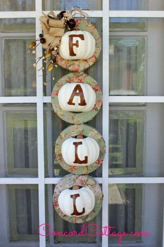 s 7 reasons to cut your pumpkins in half this fall, They fit perfectly into a wreath