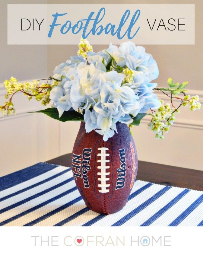 diy football vase, gardening, home decor, seasonal holiday decor