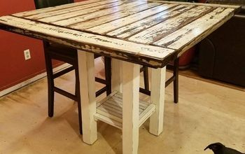 Reclaimed Wood Bar Height Farmhouse Table