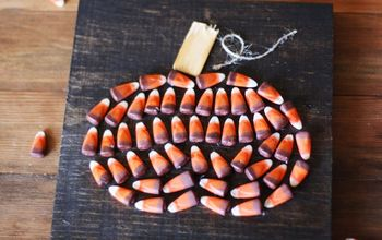 candy corn pumpkin art, crafts